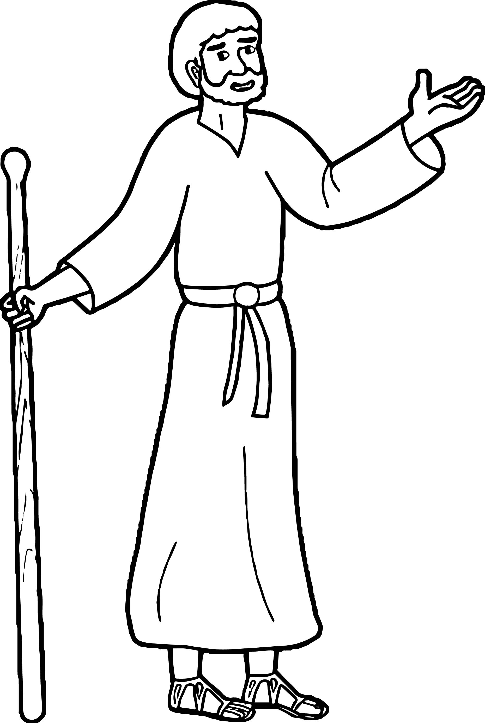paul coloring pages - jonadab paul of tarsus coloring page