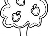 Joyous Apple Tree Coloring Page