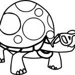 Juicy Tortoise Turtle Coloring Page