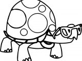 Juicy Tortoise Turtle Coloring Page