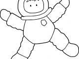 Jumping Kids Astronaut Boy Coloring Page