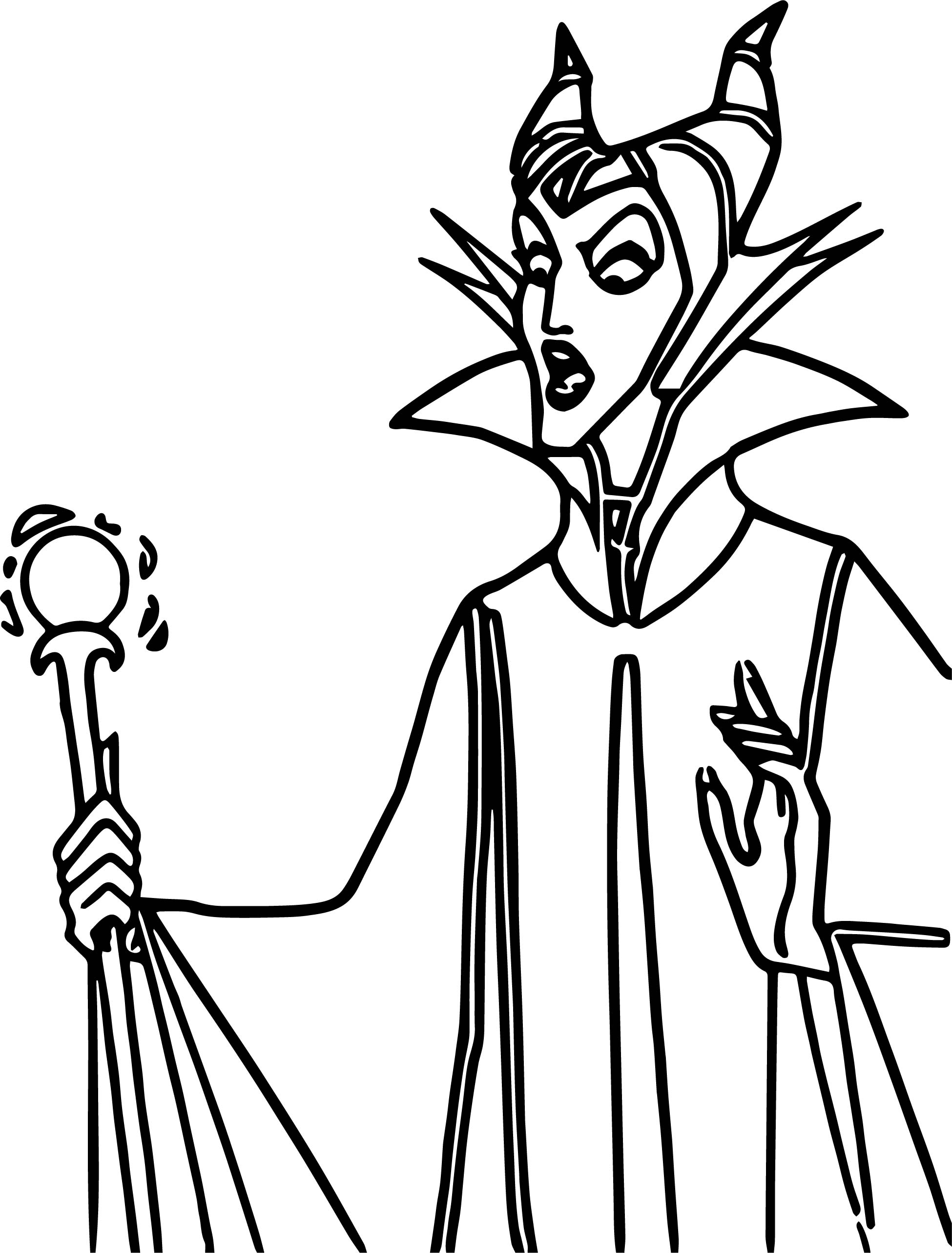 Just Aurora Maleficent Coloring Page