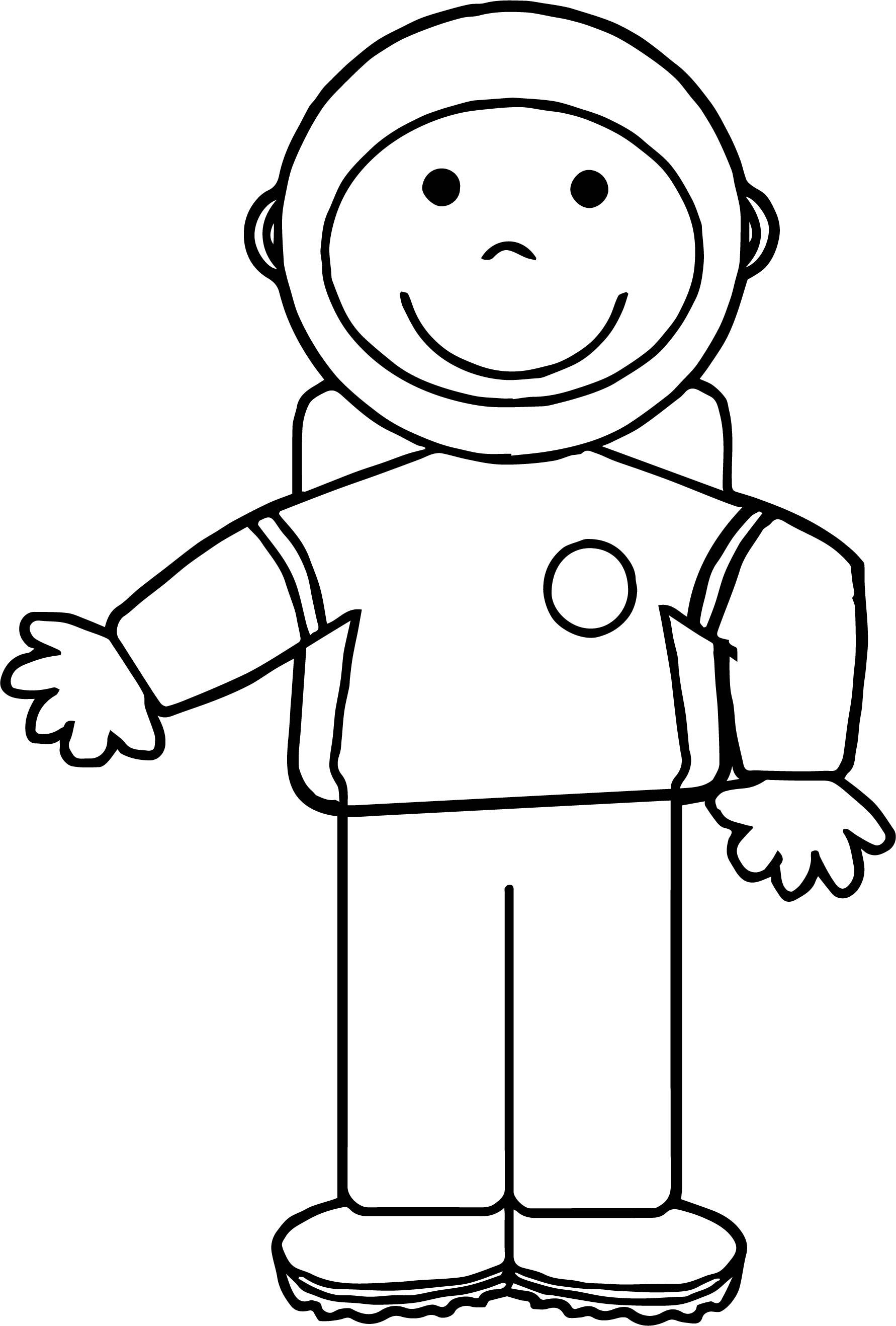 Kid Astronaut Coloring Page