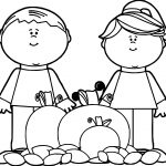 Kids Fall Pumpkins Autumn Coloring Page