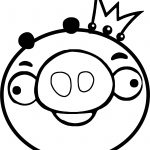 King Pig Circle Angry Birds Coloring Page