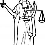 Lady Blind Justice Coloring Page