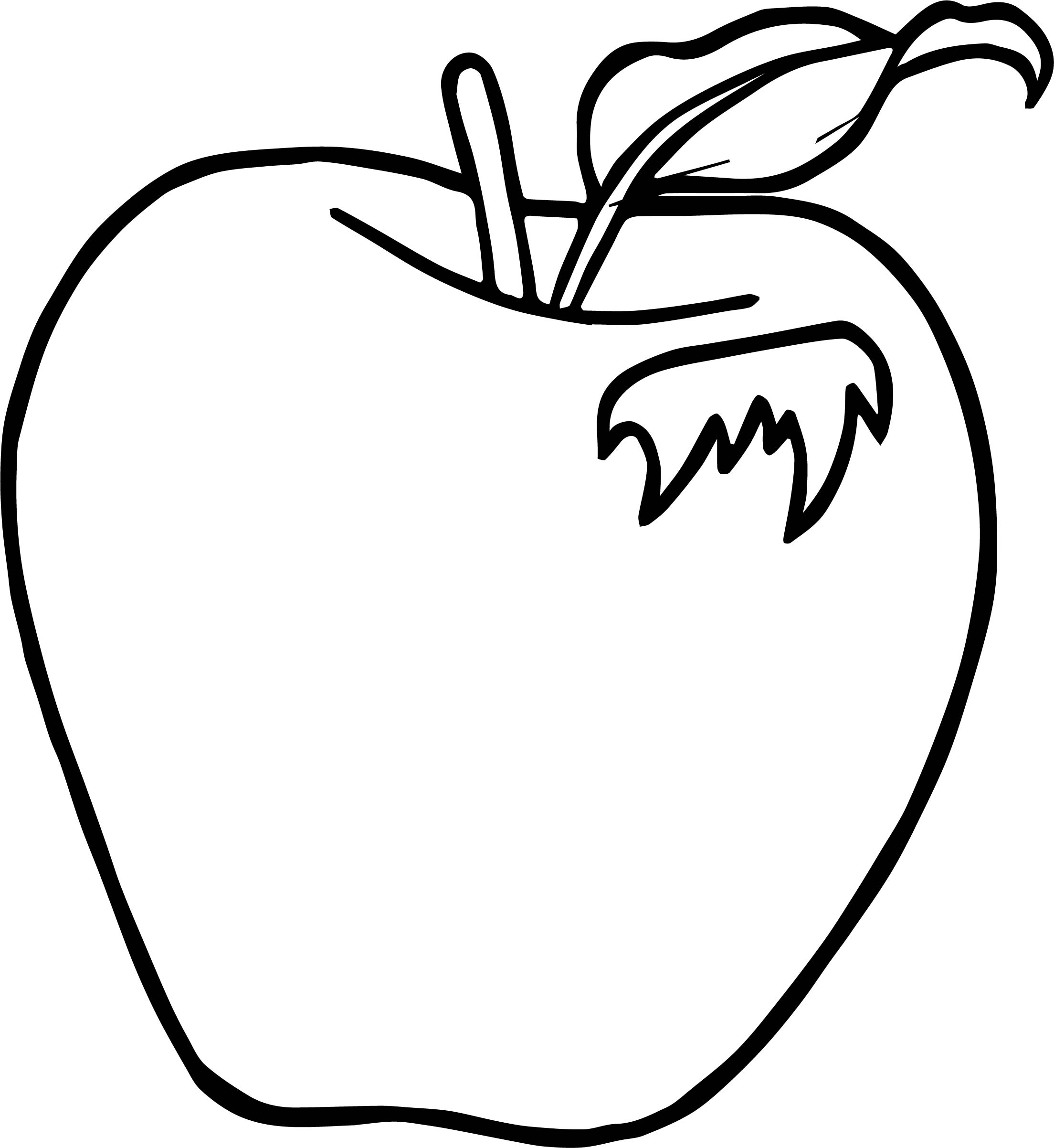 leaf apple coloring page wecoloringpage