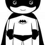 Litle Girl Batman Coloring Page