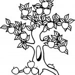 Lucky Apple Tree Coloring Page