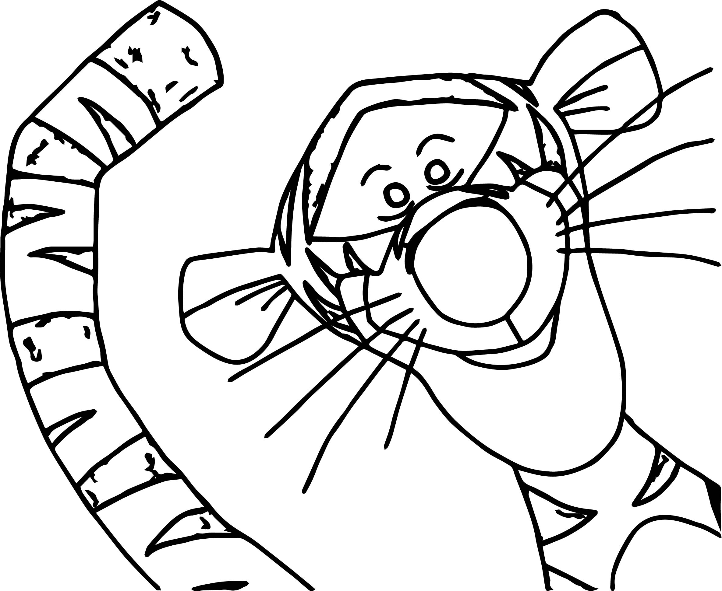 Lucky Tigger Coloring Page