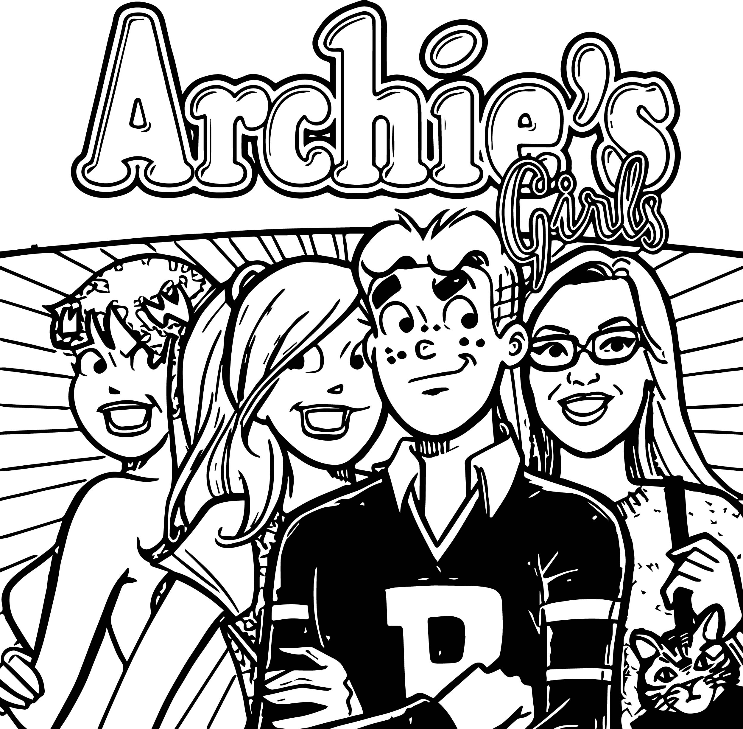 Mac Archie Header Girls Coloring Page