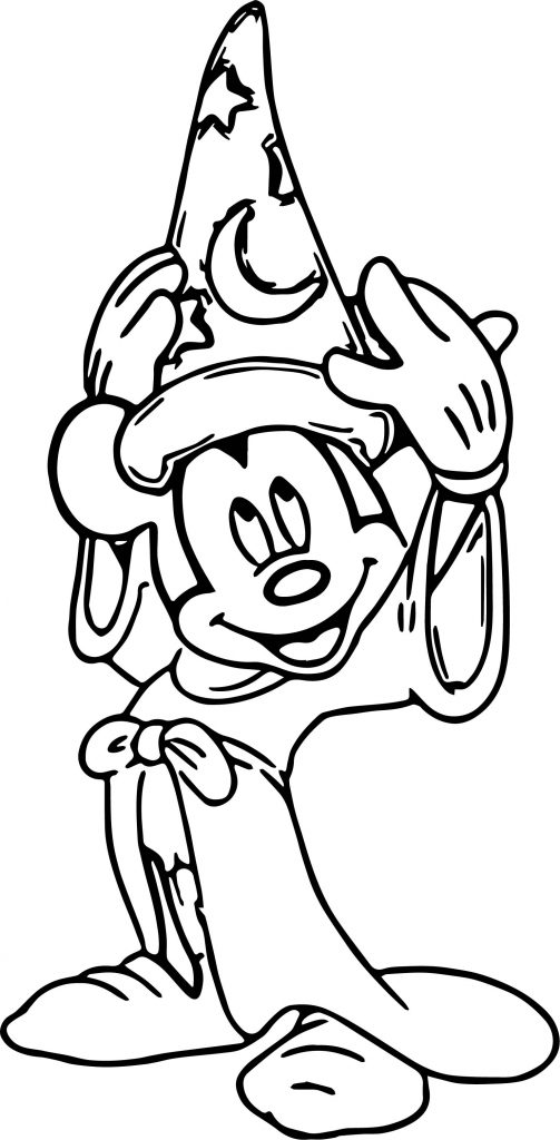 Magic Mickey Mouse Hat Coloring Pages | Wecoloringpage.com