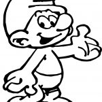 Male Smurf Comic Book Smurf Coloring Page