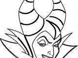Maleficent Face Coloring Page