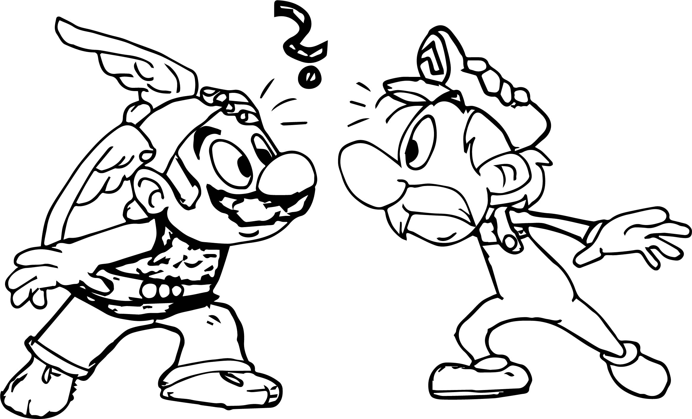 mario the gaul and asterix the plumber coloring page