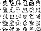 Master Pic Archie Characters Drawing All Face Coloring Page