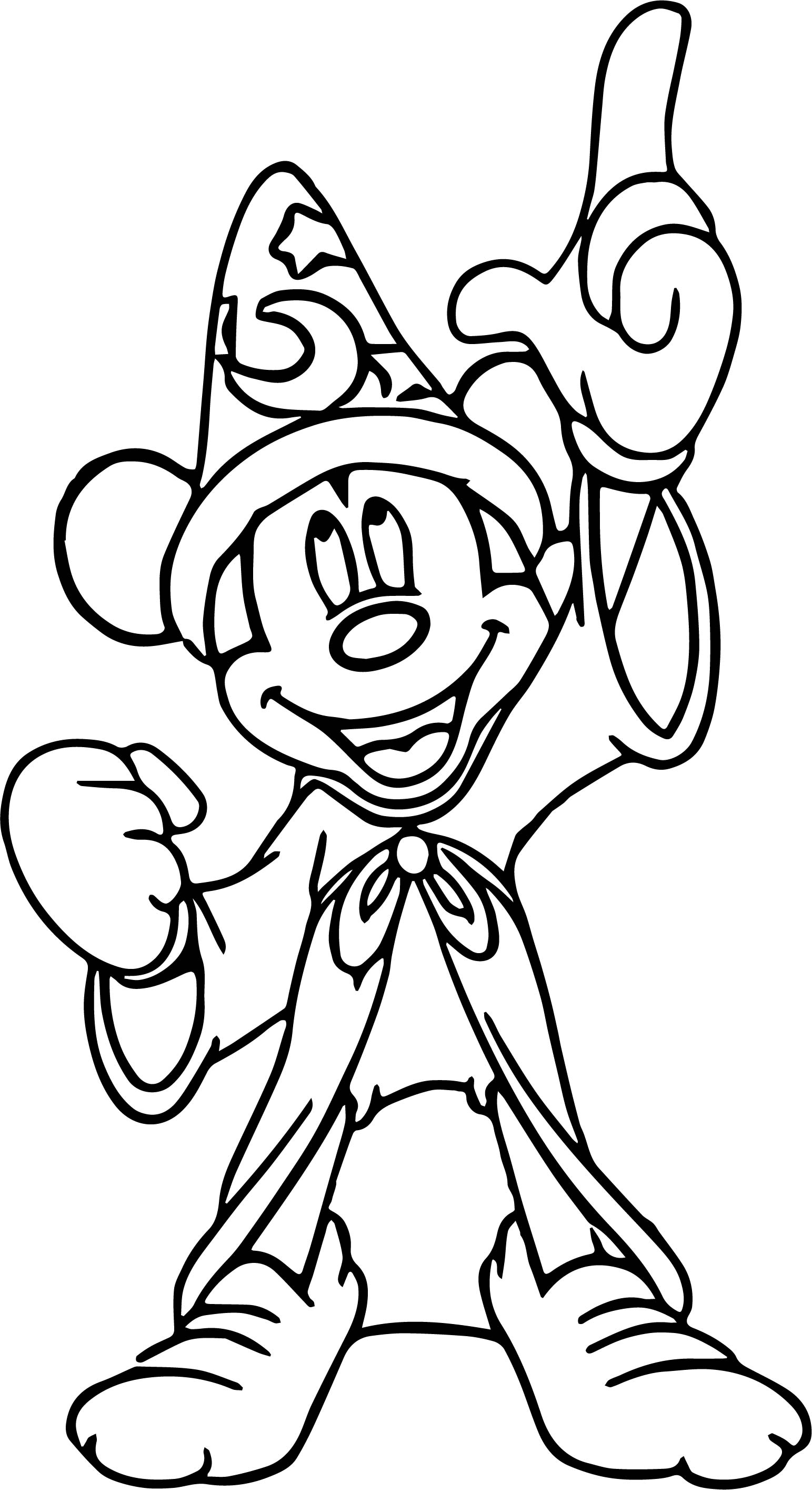 Mickey Fantasia Coloring Pages