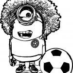 Minion Based On A Colombian Soccer Player Carlos El Pibe Valderrama Coloring Page