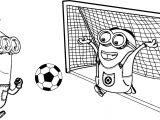 Minion Kevin And Dave Playing Soccer Picture Coloring Page