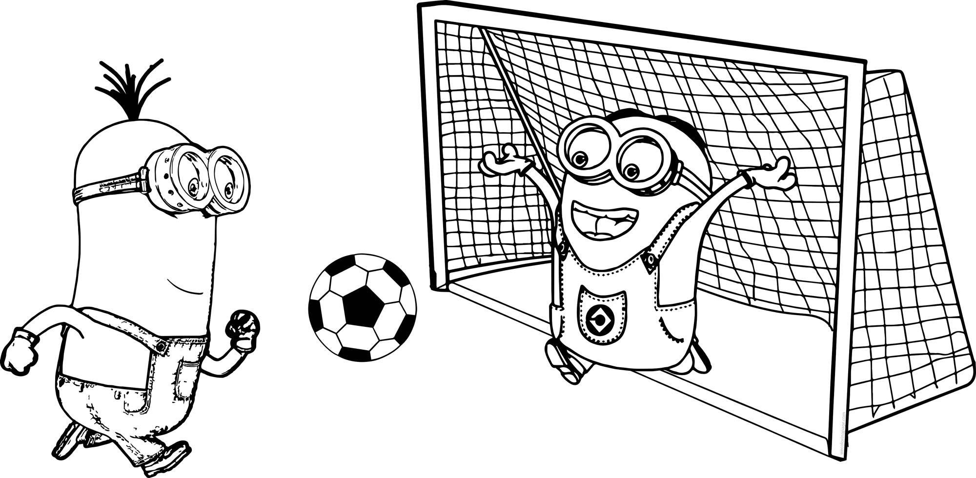 Free Coloring Pages Soccer Players