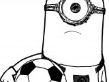 Minion Or Minions Soccer Selfie Photo Coloring Pages