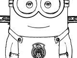 Minion Soccer Player Front View Coloring Pages
