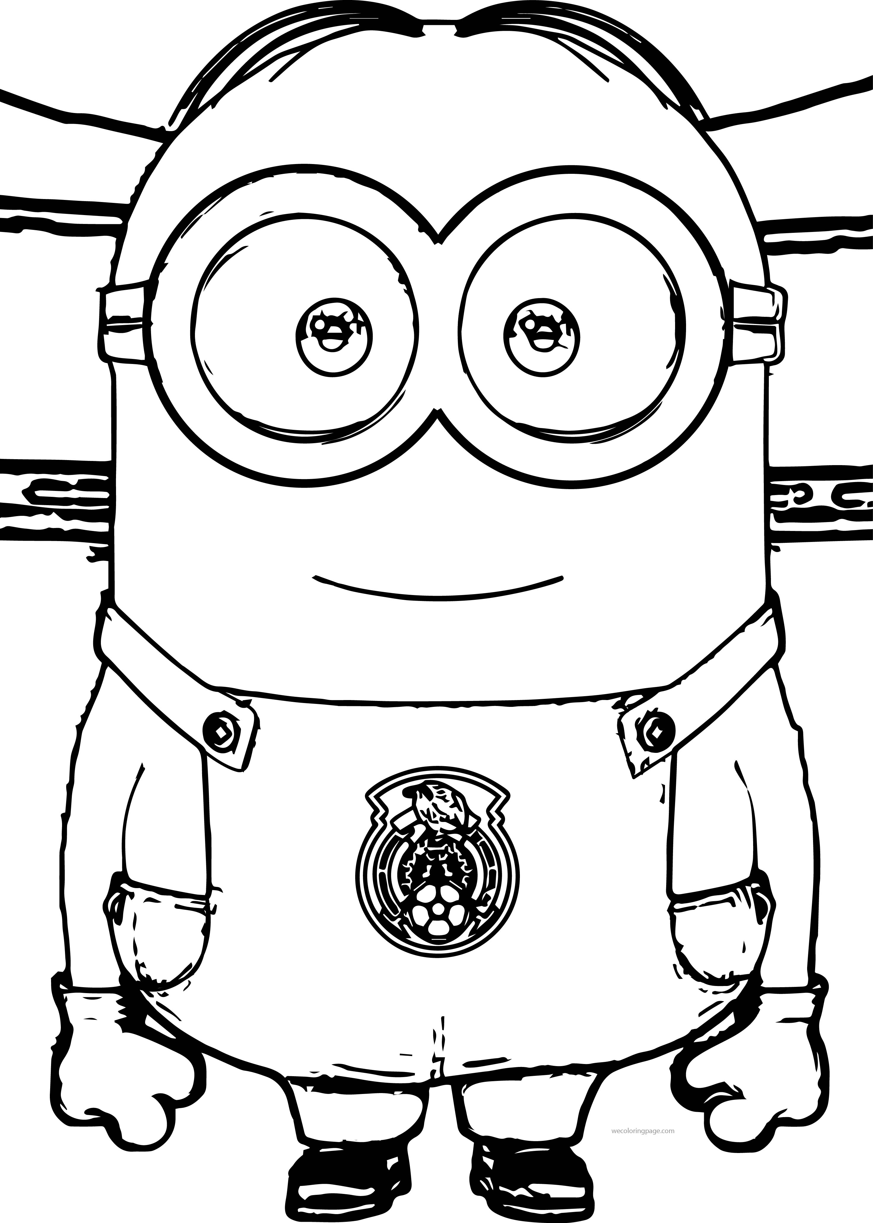Coloring Minion Coloring Pages Soccer Coloring Pages