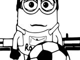 Minions Cristiano Ronaldo The Funniest Goal Ever Coloring Page