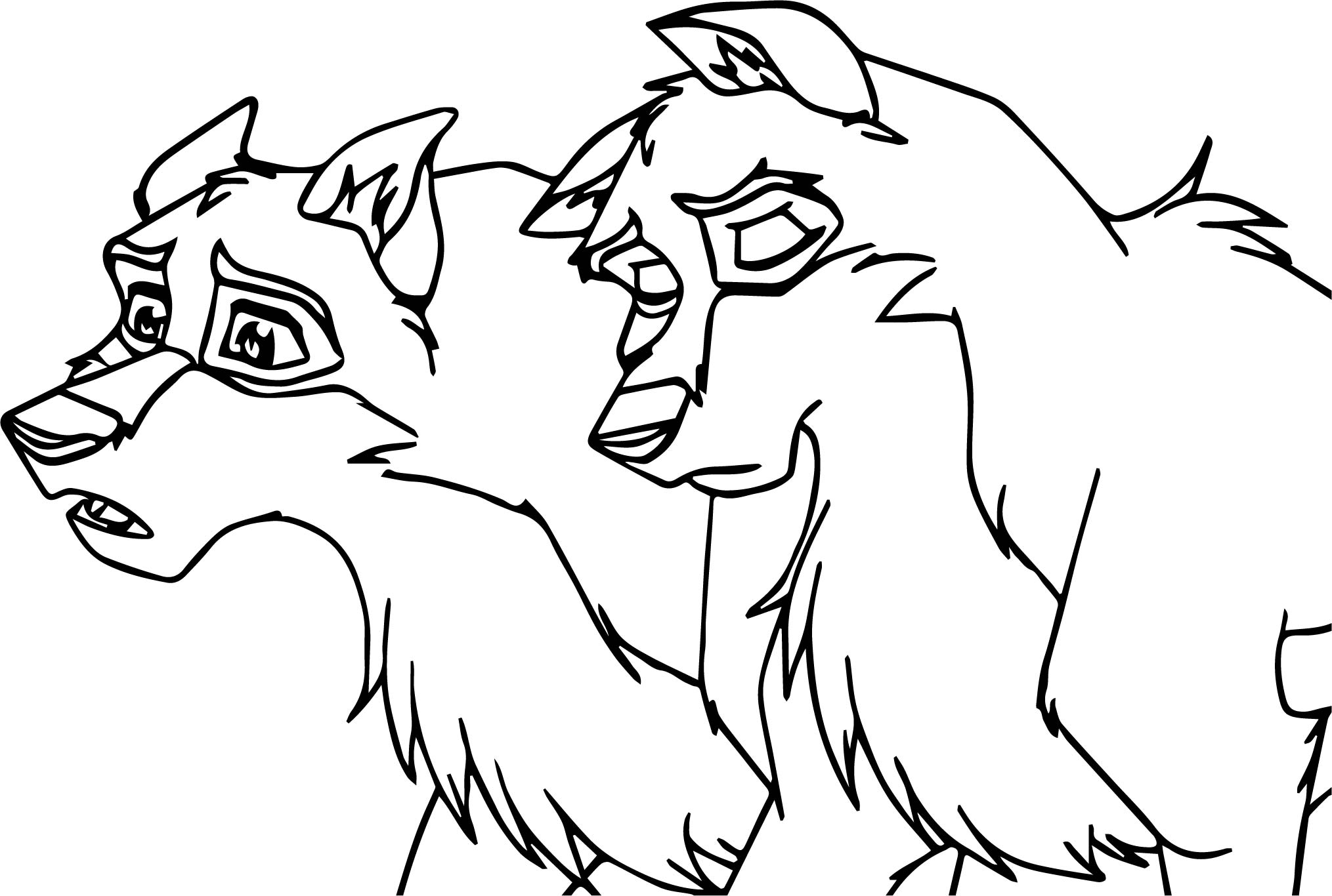 New Balto Base Wolf Coloring Page | Wecoloringpage.com