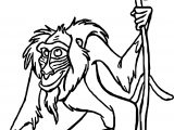 Old Baboon Character Coloring Page