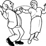 Old Couple Dancing Coloring Page