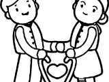 Old Figure Cartoon Couple Coloring Page
