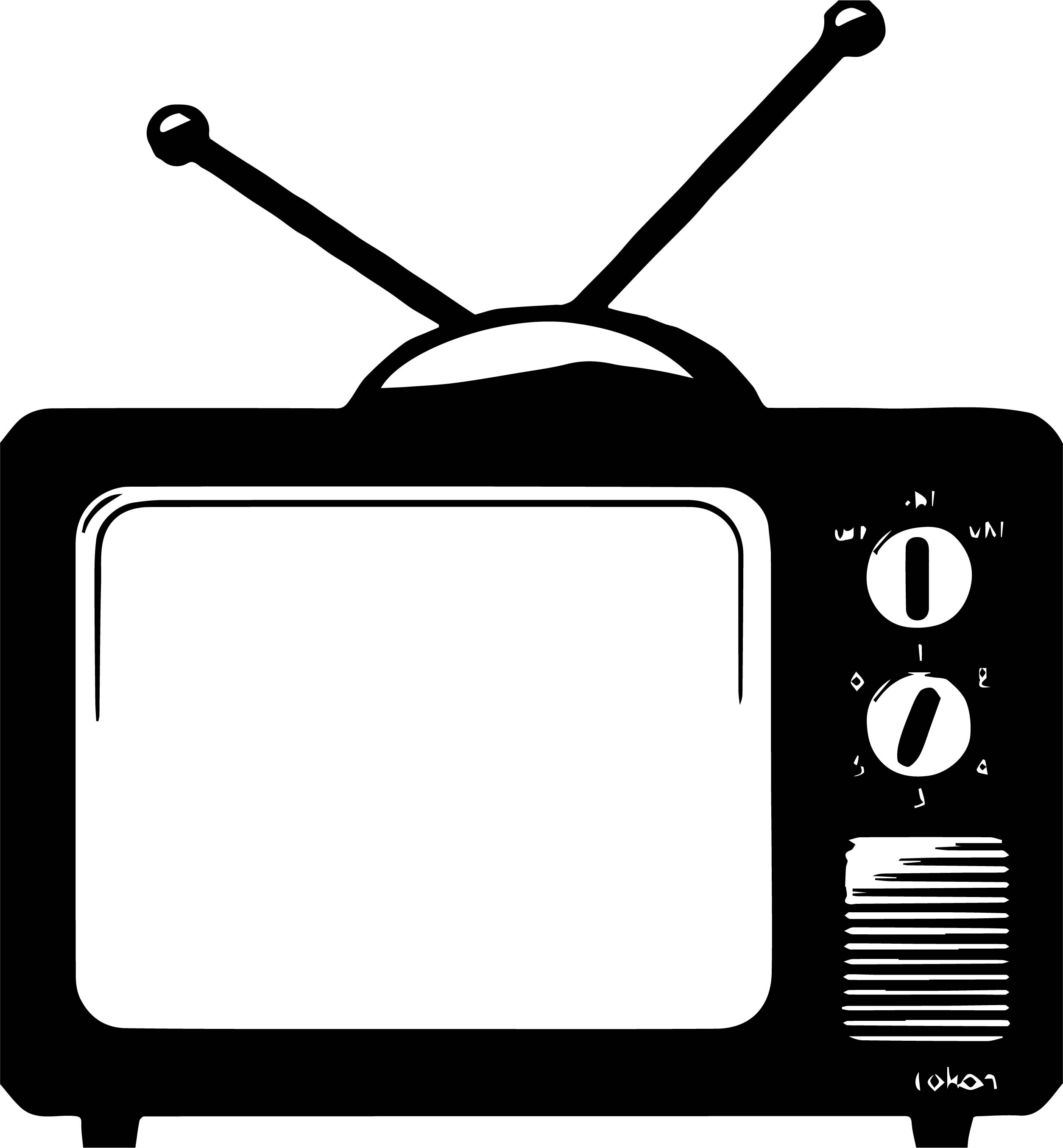 Old Television Coloring Page