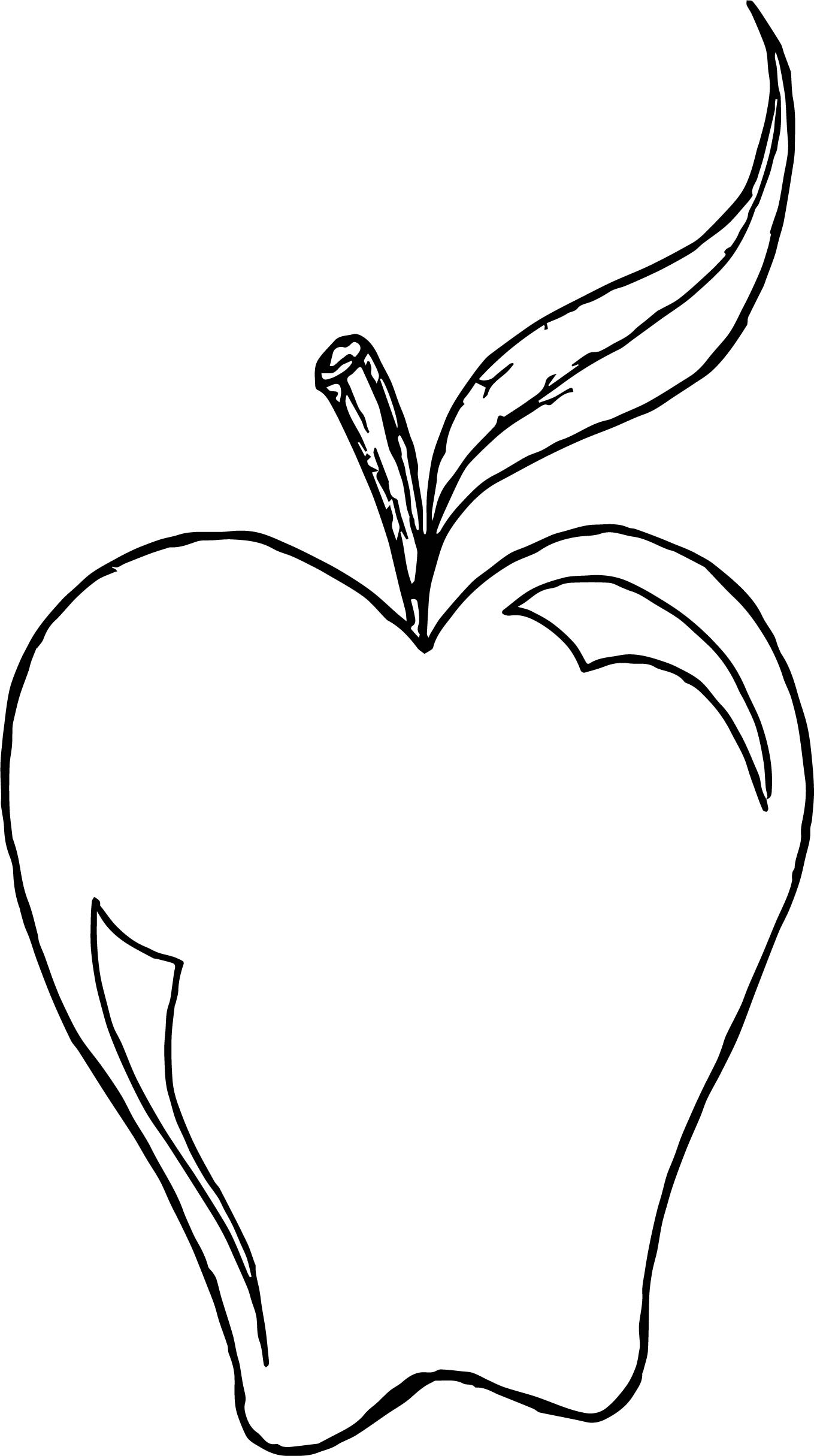 One Apple Coloring Page