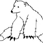 One Bear Coloring Page