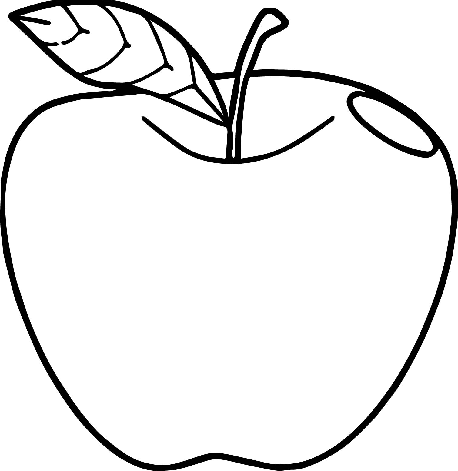 One Just Apple Coloring Page
