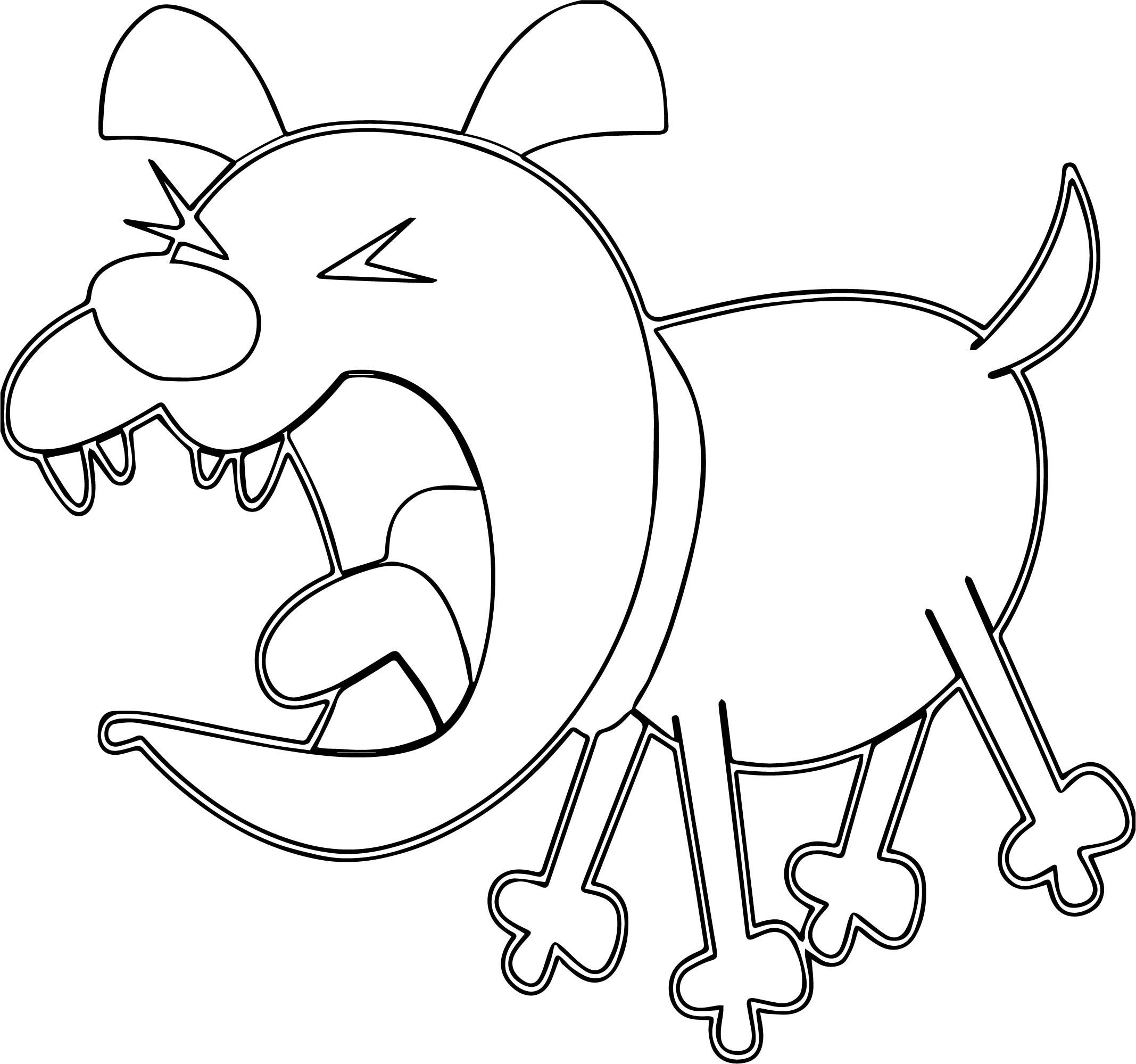 Outline Dog Bark Coloring Page