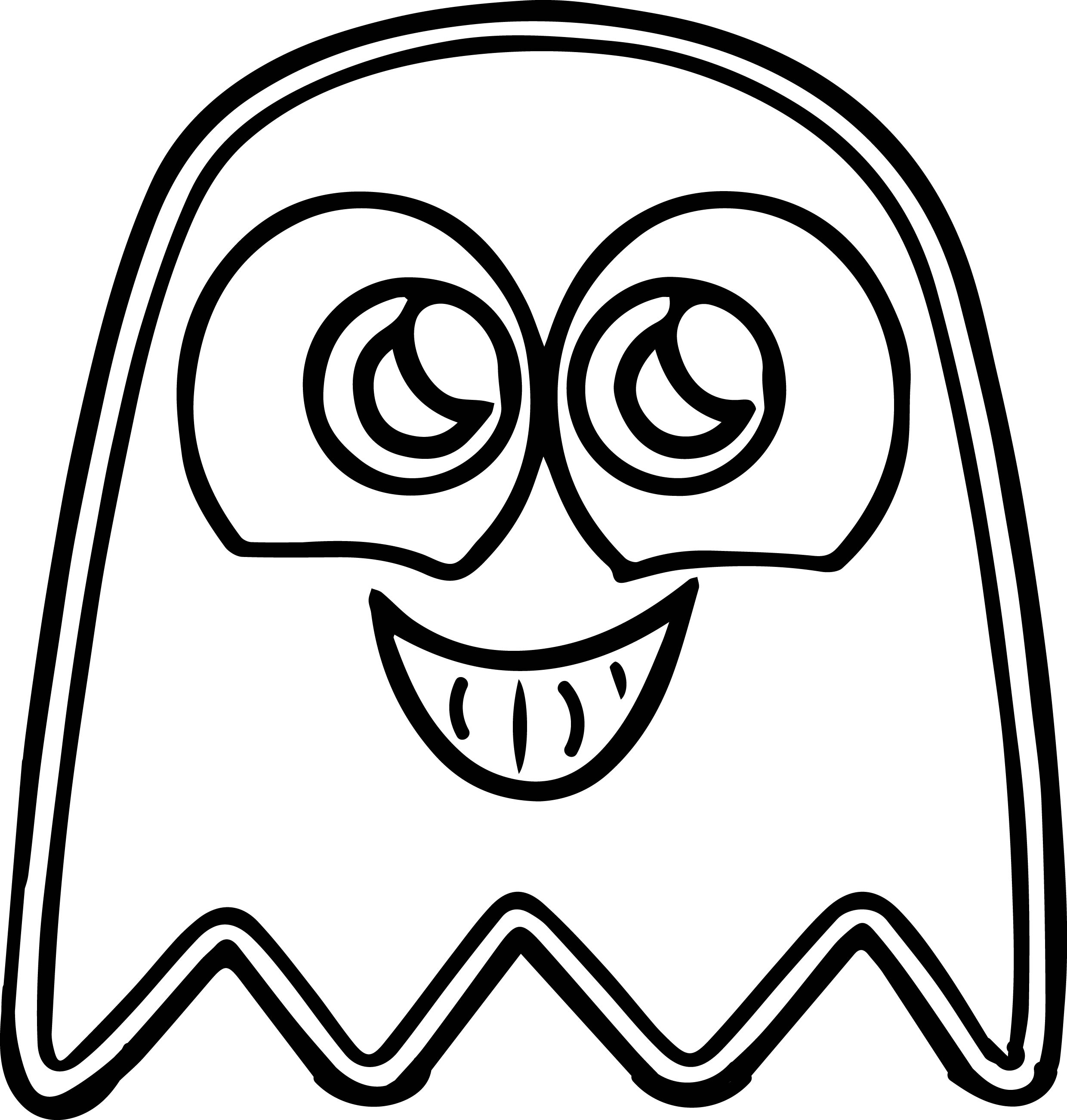 pacman cute ghost coloring page - Ghost Coloring Page