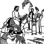 Passion Palm Sunday Projection Coloring Page