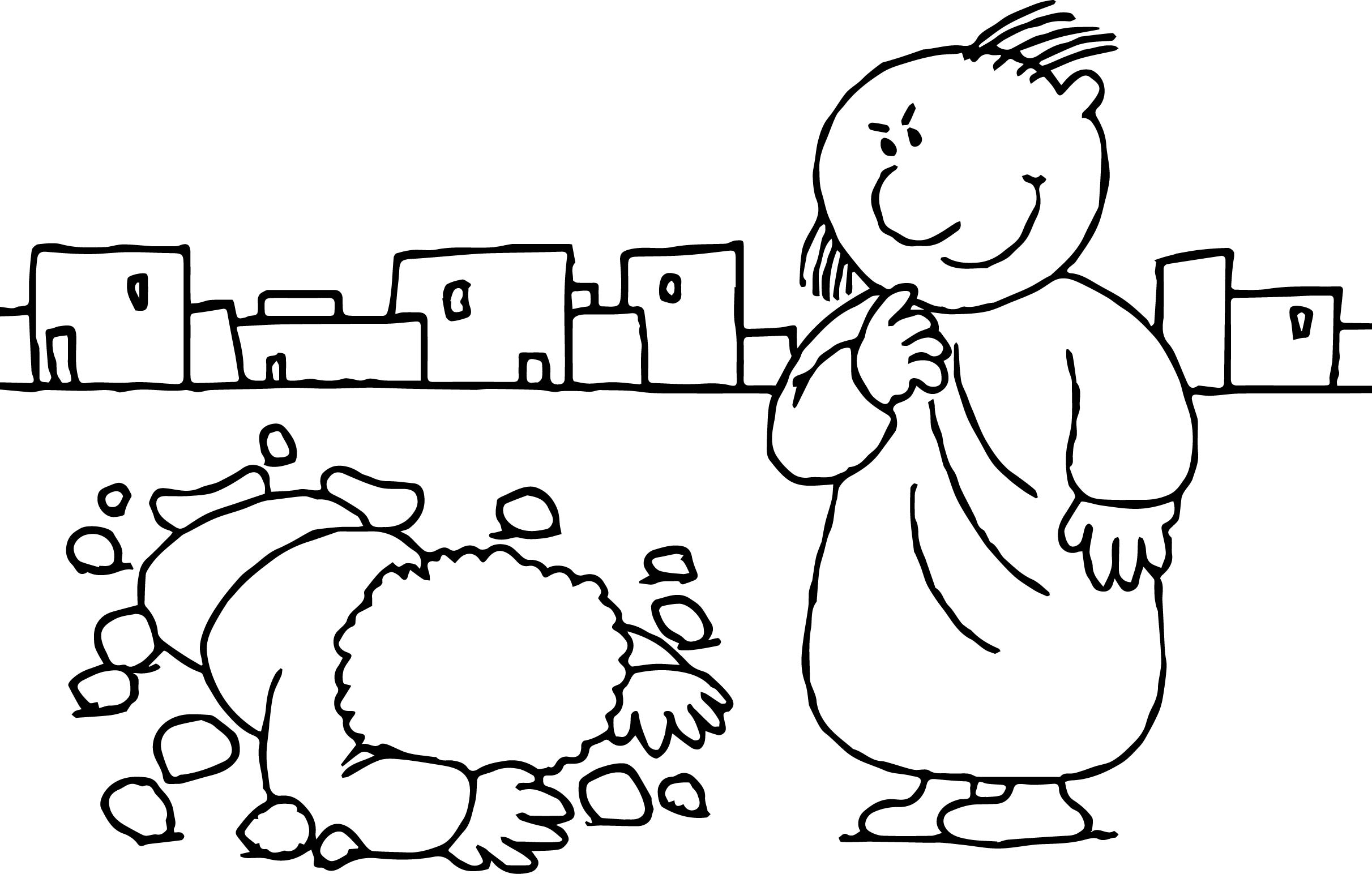 Paul Apostle Think Coloring Page