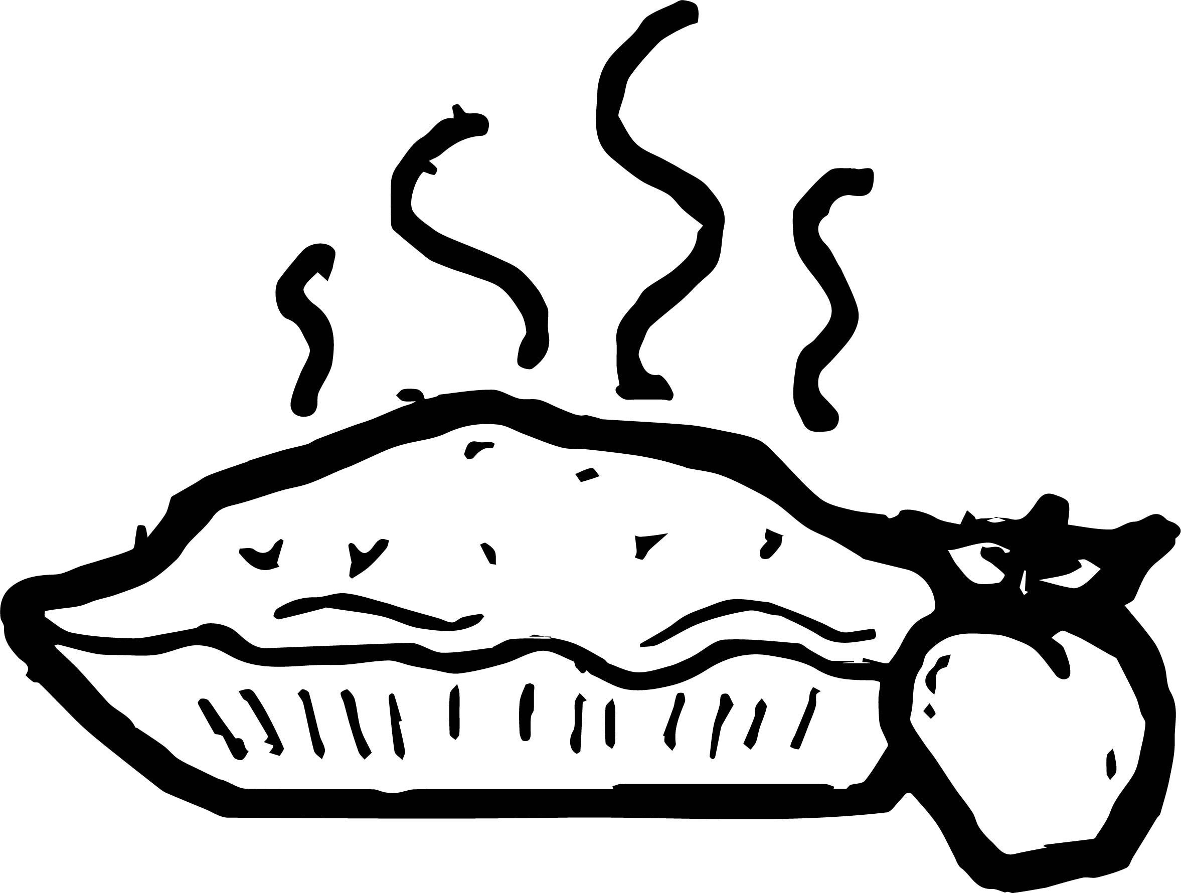 Pie Apple Coloring Page