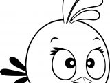 Pink Girl Angry Bird Coloring Page