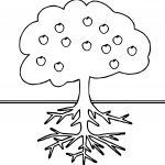 Pleasant Apple Tree Coloring Page