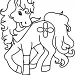 Pony Horse Cute Free Download Coloring Page