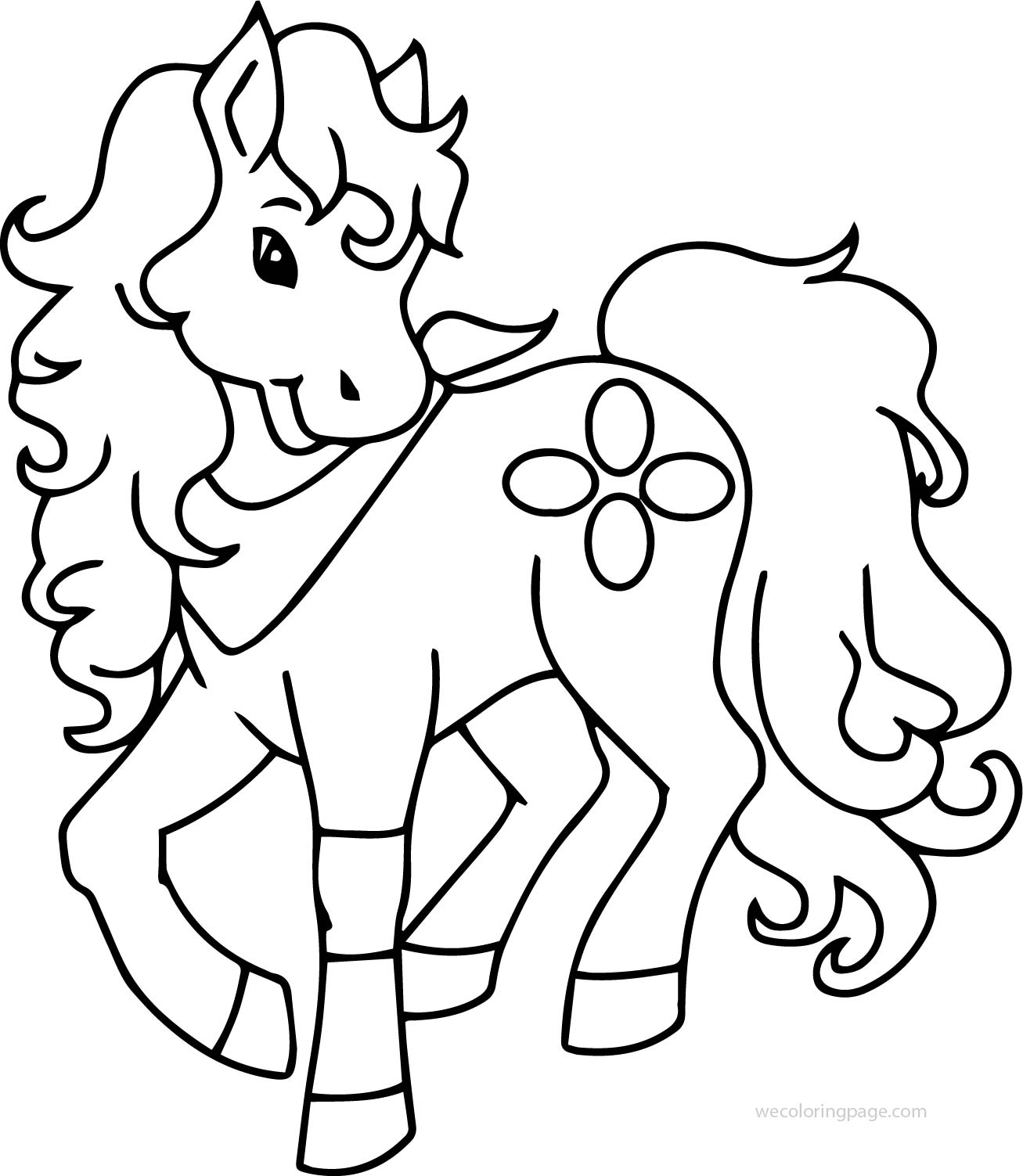 Pony Horse Cute Free Download Coloring