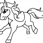 Pony Horse Running Free Download Coloring Page