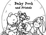 Pooh Bear Baby Pooh Coloring Page