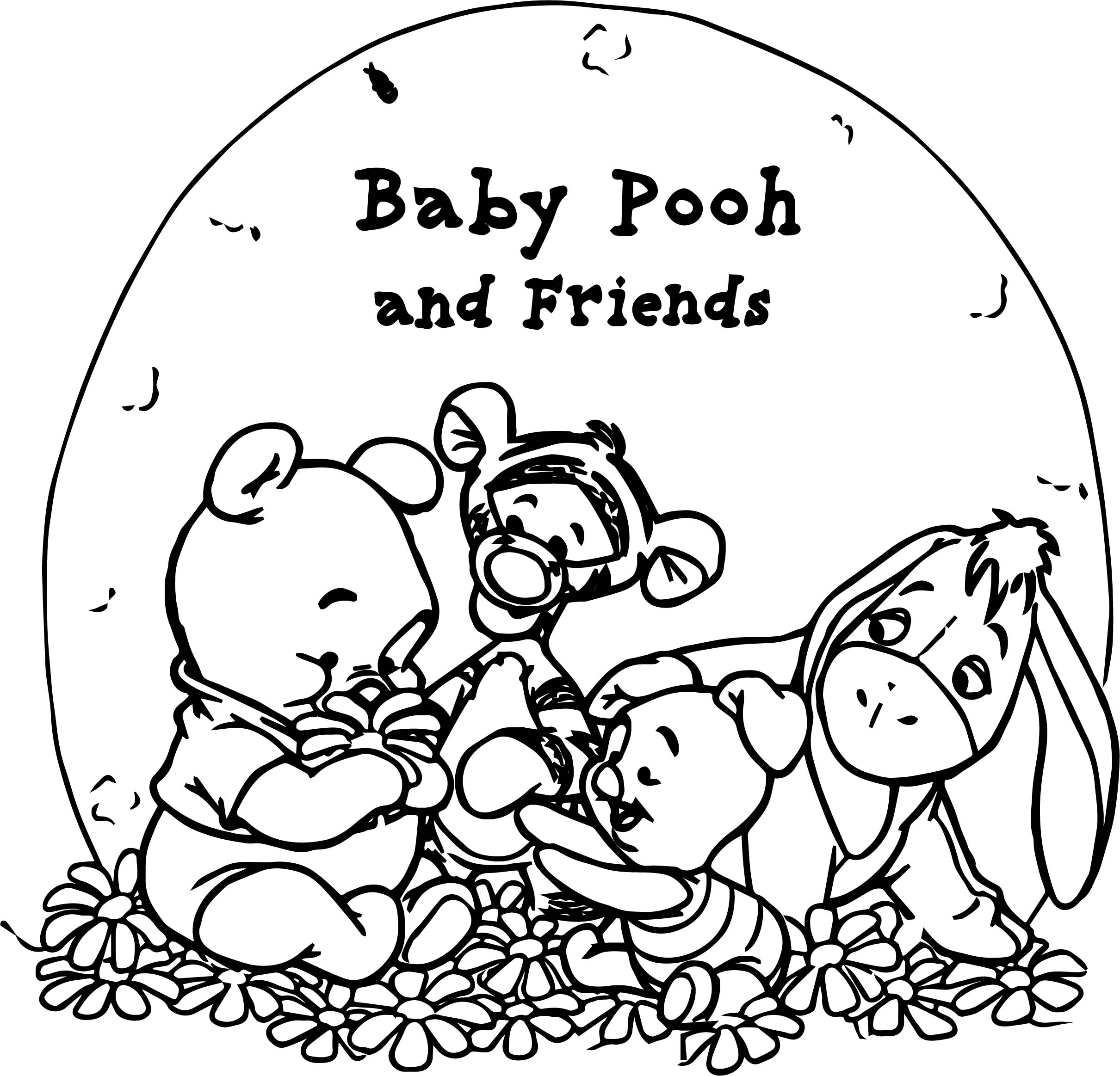 baby bear coloring pages - pooh bear baby pooh coloring page