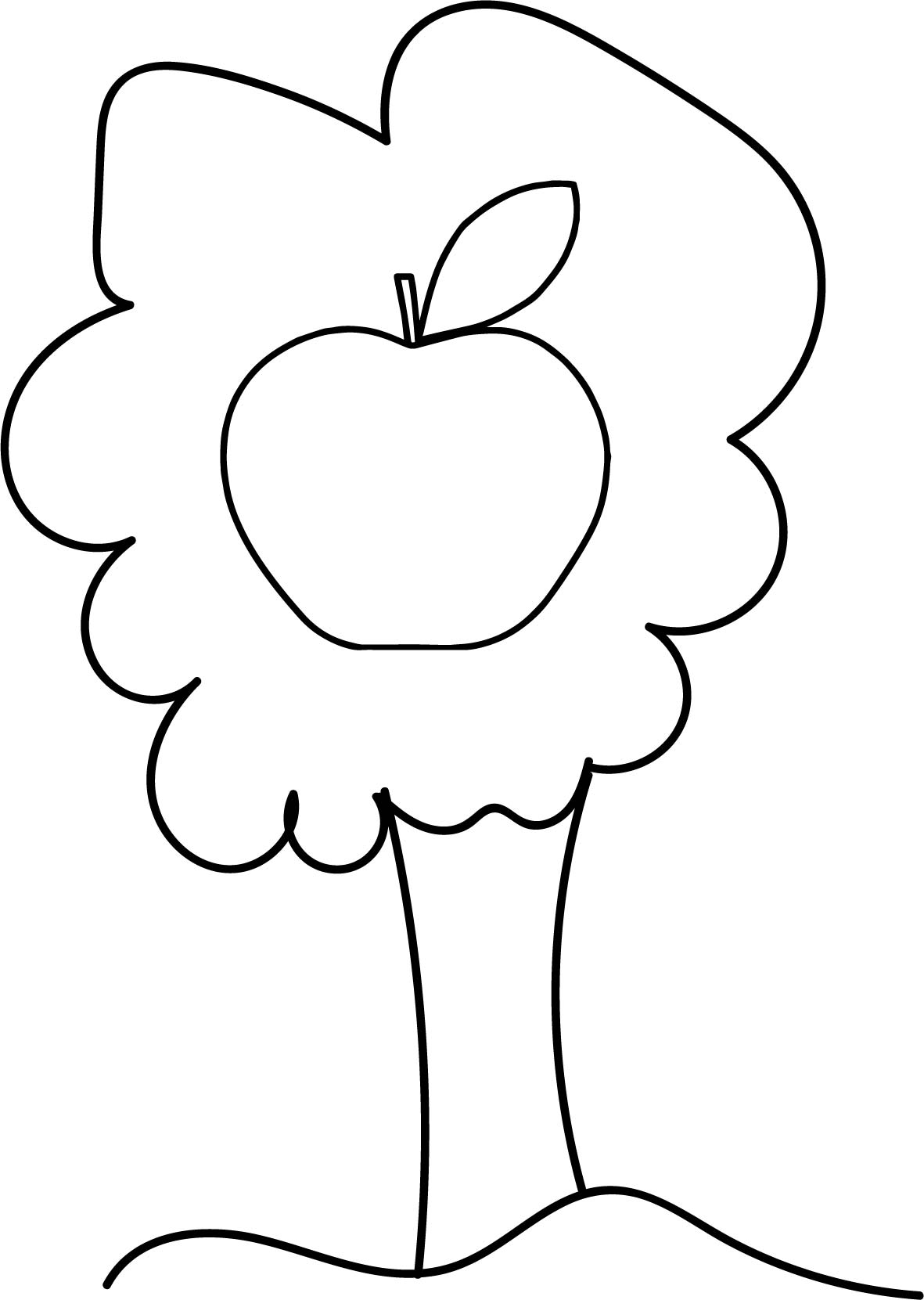 Proud Apple Tree Coloring Page