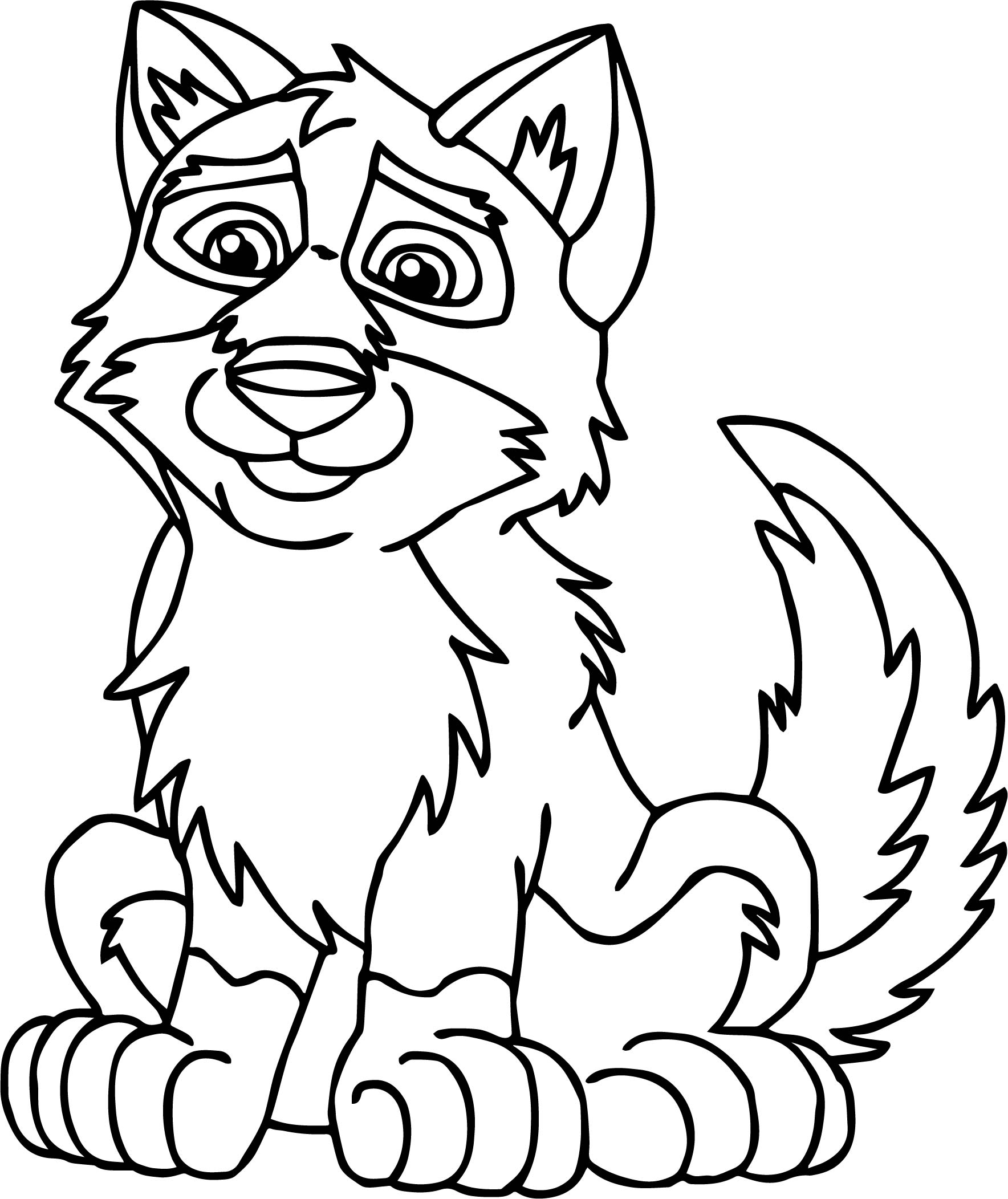 Puppy Balto Wolf Coloring Page